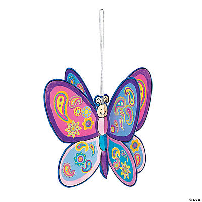 DIY 3D Butterfly Ornaments with Stickers