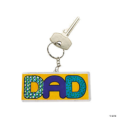 "DIY ""Dad"" Key Chains"