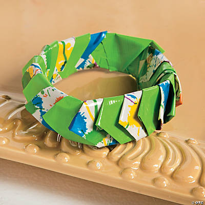 Diy duck tape petal bracelet idea for Duck tape craft ideas