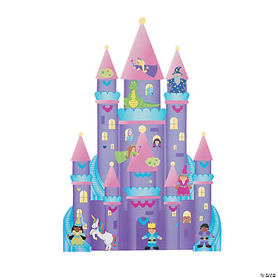 DIY Giant Enchanted Castle-Shaped Sticker Scenes