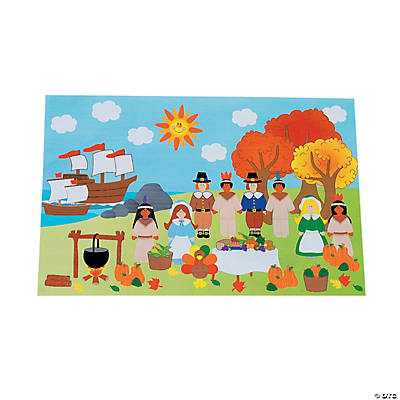 DIY Giant Thanksgiving Sticker Scenes