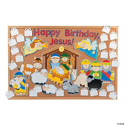 "DIY ""Happy Birthday, Jesus"" Bulletin Board Set"