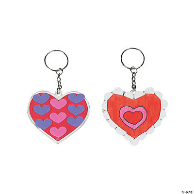 DIY Heart-Shaped Key Chains
