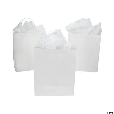 DIY Large White Craft Gift Bags