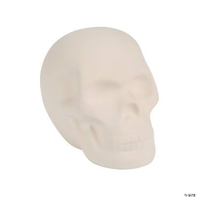 DIY Mini Ceramic Skull - Oriental Trading