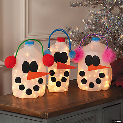 DIY Snowman Milk Jugs Idea