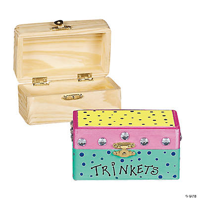 Diy unfinished wood hinged boxes for Unfinished wooden boxes for crafts