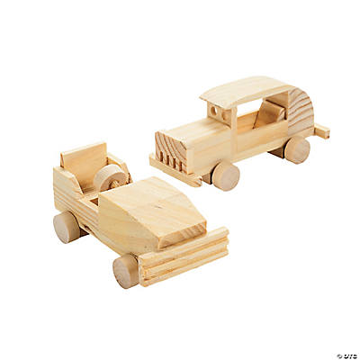 DIY Unfinished Wood Hot Rods