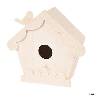 DIY Unfinished Wood Large Birdhouse