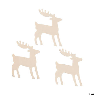 DIY Unfinished Wood Reindeer Cutouts