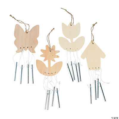 DIY Unfinished Wood Spring Wind Chimes