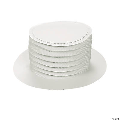 DIY White Top Hats - 12 pcs.