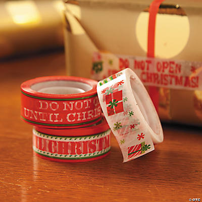 """Do Not Open Until Christmas"" Tape"