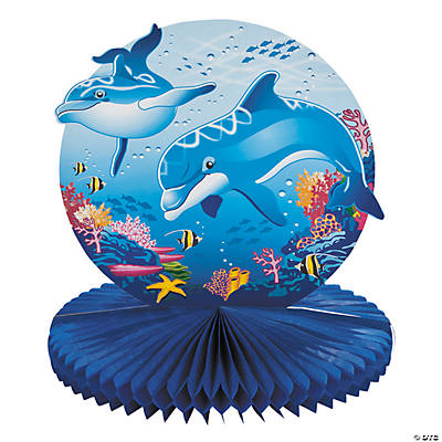 Dolphin Party Tissue Centerpiece