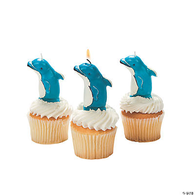 Dolphin Shaped Cake Topper Candle