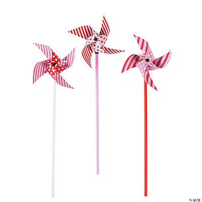 Dots and Stripes Valentine Pinwheels