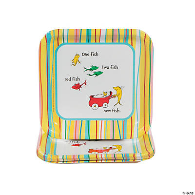 Dr. Seuss™ Baby Shower Square Dessert Plates