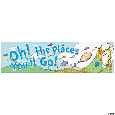 Dr seuss party supplies decorations dr seuss oh the places youll go banner fandeluxe Image collections