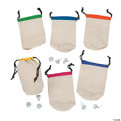 Drawstring Bags with Bright Trim
