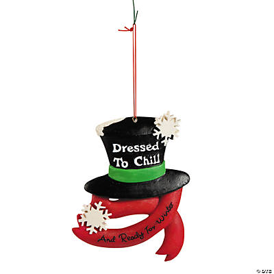 """Dressed to Chill"" Snowman Hat Christmas Ornament"