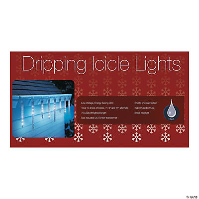 10 dripping icicle holiday led lights. Black Bedroom Furniture Sets. Home Design Ideas