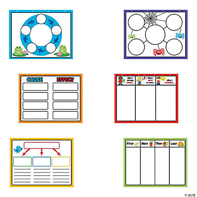 Dry Erase Graphic Organization Charts