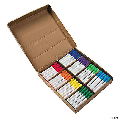 80 Dry Erase Markers with Eraser Caps