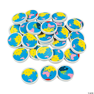 Globe keychains quickview image of earth erasers with sku91350 gumiabroncs