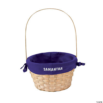 Easter Basket with Purple Liner