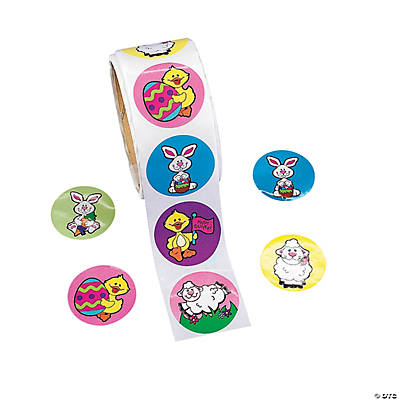 Easter Bunny & Chick Roll of Stickers
