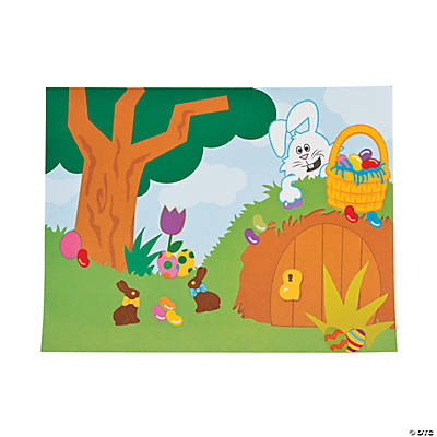 Easter Bunny Hollow with Candy Sticker Scenes