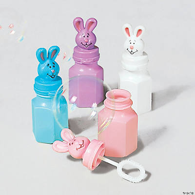 24 Easter Character Bubble Bottles