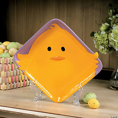 Easter Chick Square Dish