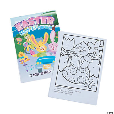 Easter Color by Number Activity Books