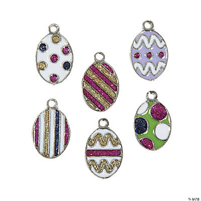 Easter Egg Enamel Charms