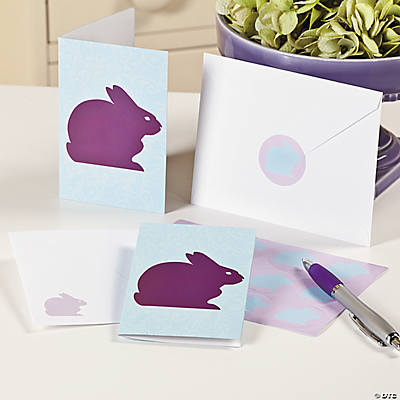 Easter Rabbit Silhouette Notecards
