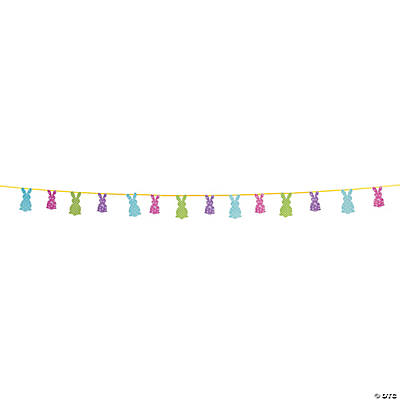 Easter Silhouette Bunny Garland
