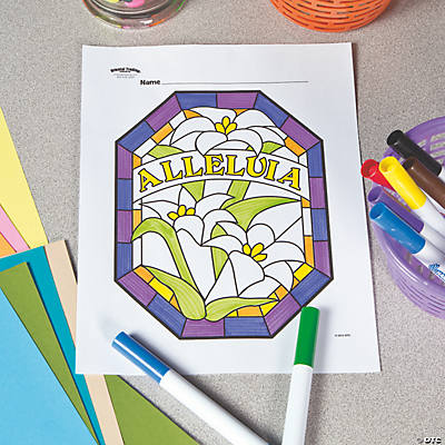 Easter Stained Glass Free Printable