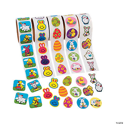 Easter Sticker Rolls Assortment - 5 rolls