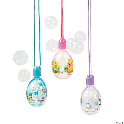 Egg-Shaped Bubble Bottle Necklaces