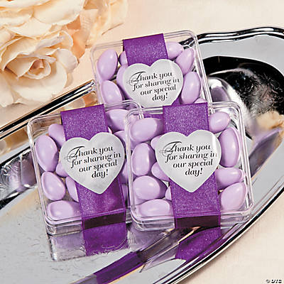 Elegant Thank You Favor Containers Idea