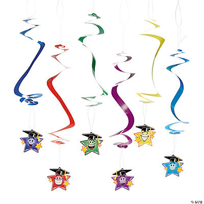 Elementary Graduation Star Hanging Swirls
