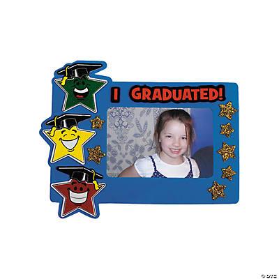 Elementary Graduation Star Picture Frame Magnet Craft Kit