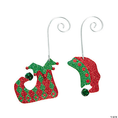 Elf Hat & Shoe Christmas Ornaments