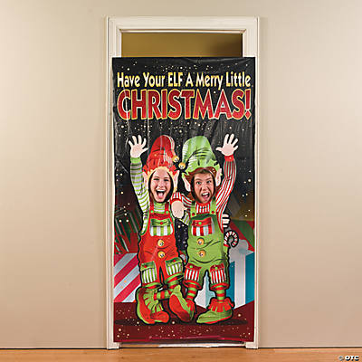 Elf photo door banner for Elf door decoration