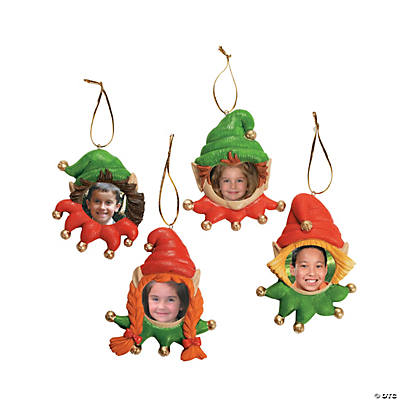 Elf Picture Frame Christmas Ornaments