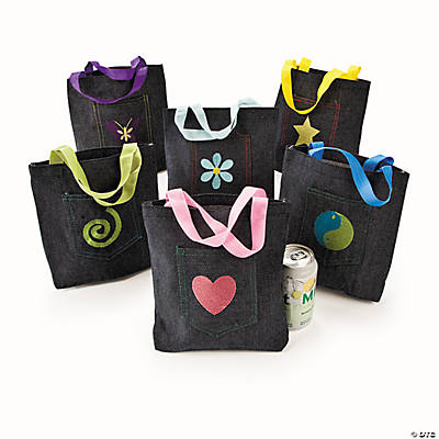 Embroidered Pocket Tote Bags