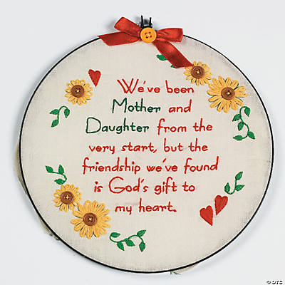 Embroidery mother daughter poem craft kit oriental for Mother s day craft kits