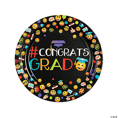 Emoji Graduation Party Paper Dinner Plates