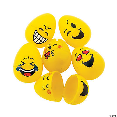 Emoji Plastic Easter Eggs